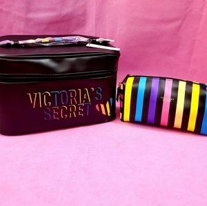 VS Black/Multicolored Cosmetic Case